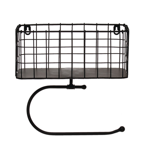 Metal Wall Basket with Tissue Holder Default Title