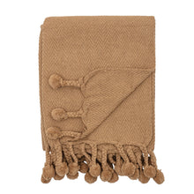 Load image into Gallery viewer, Braided Pom Pom Tassels Dijon Cotton Throw Default Title