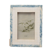 Load image into Gallery viewer, 6.5 in x 8.5 in  Wood and Resin Blue and Ivory Photo Frame Default Title