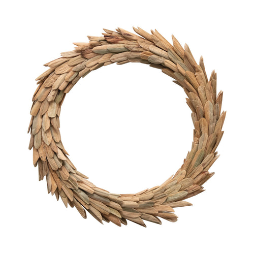 Handmade Dried Natural Buri Leaf Wreath Default Title