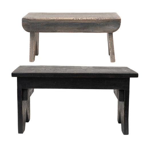 Reclaimed Wood Benches/Risers, Set of 2 Default Title