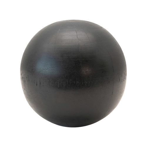 Hand-Carved Mango Wood Ball, Espresso Finish Default Title