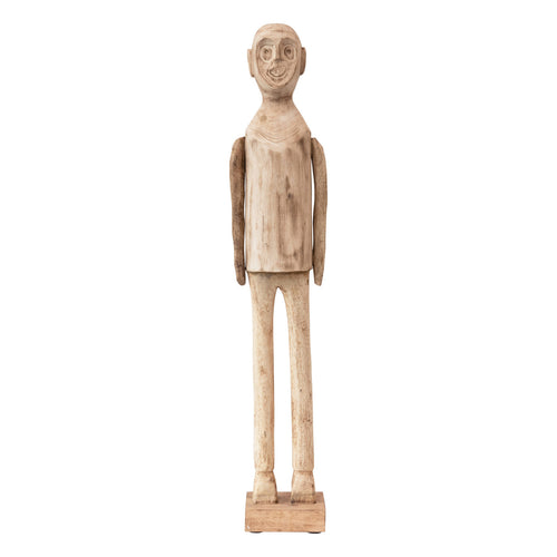Hand-Carved Mango Wood Standing Figure (Each One Will Vary) Default Title