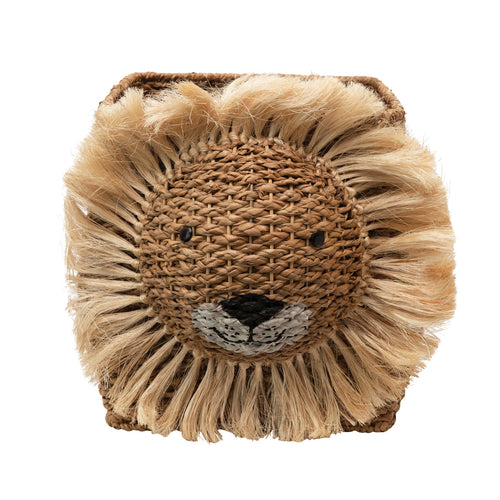 Hand-Woven Bankuan Lion Basket, Natural Default Title