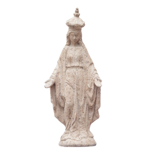 Resin Vintage Reproduction Virgin Mary Statue, Distressed Finish Default Title