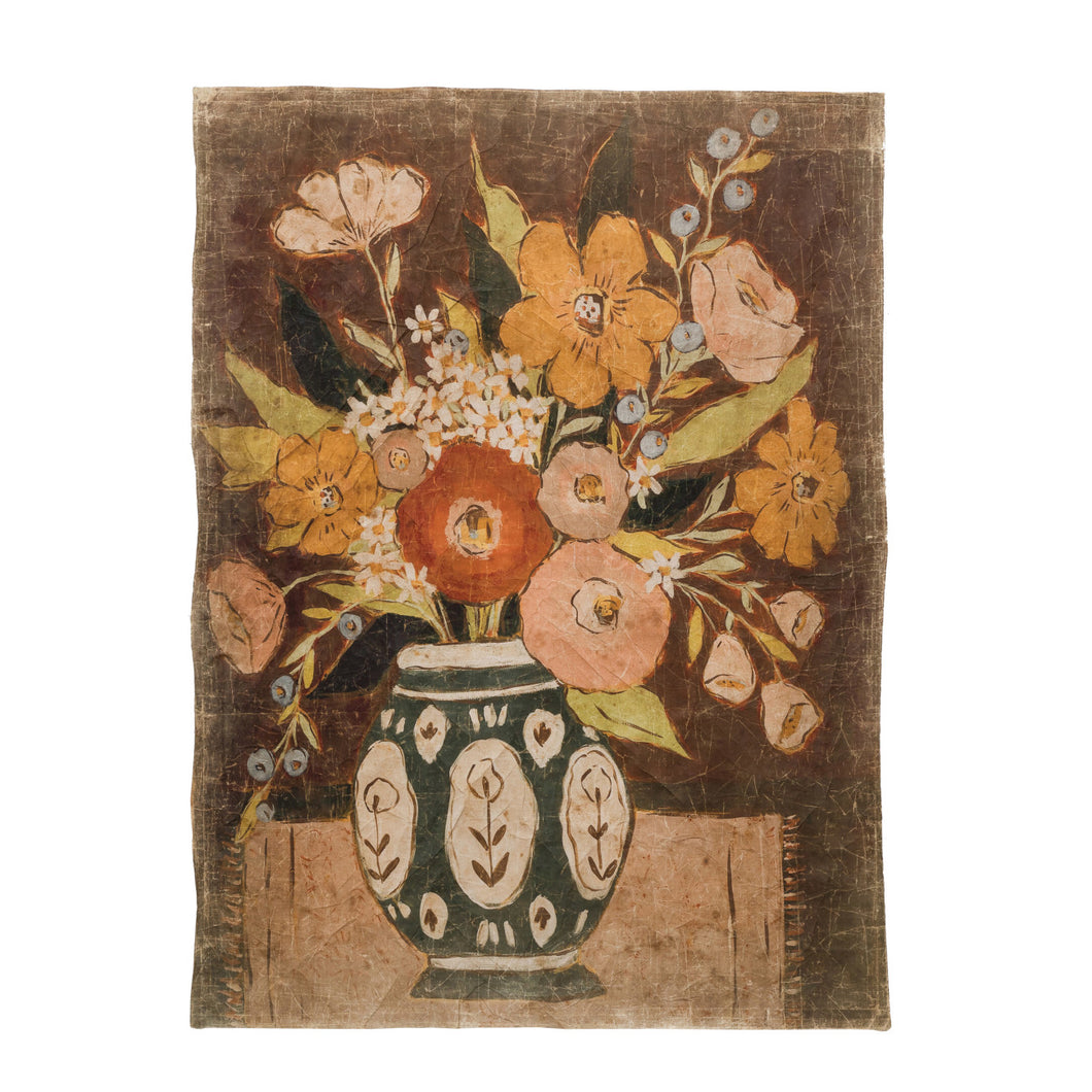 Decorative Paper with Flowers in Vase, Multi Color © Default Title
