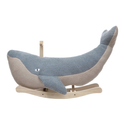 Rocking Plush Whale, Grey & Cream Color, KD Default Title