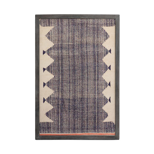 Mango Wood Framed Cotton Wall Décor, Multi Color Default Title