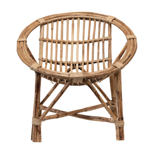 Hand-Woven Rattan Chair, Natural Default Title
