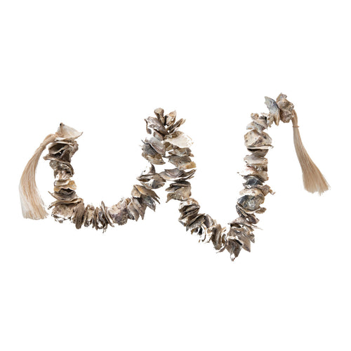 Oyster Shell Garland with Raffia Tassels Default Title