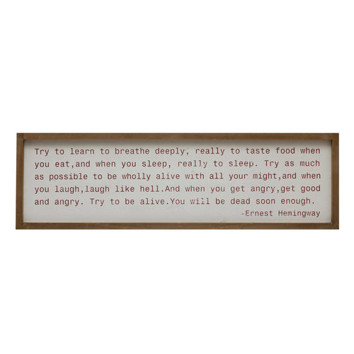 Wood Framed Wall Décor with Saying