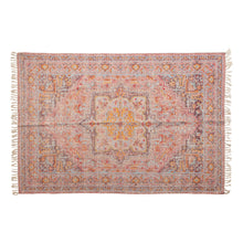 Load image into Gallery viewer, Woven Cotton Distressed Print Rug, Multi Color Default Title