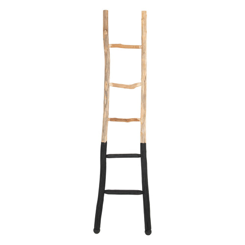 Decorative Wood Ladder, Black Dipped Default Title
