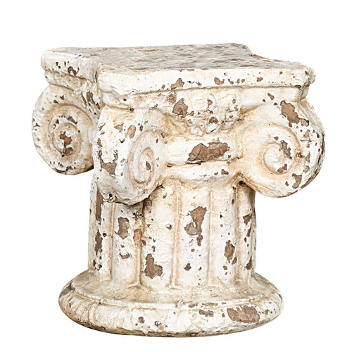 Distressed Cream Terracotta Column Pedestal Default Title
