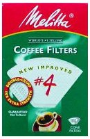 Melitta Number 4 Cone Filter Paper White 100 Count
