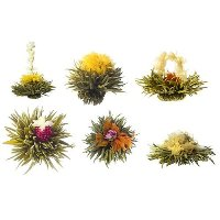 Medley bouquet of 6 Blooming Teas from Teaposy