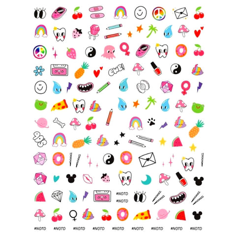 90's Chick Nail Stickers