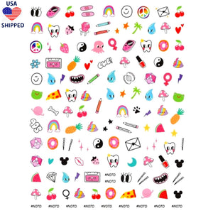(USA) Nostalgic 90's Chick Nail Stickers