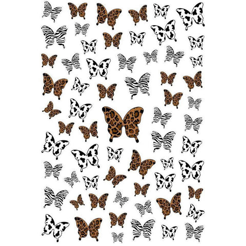 Butterflies Animal Prints Nail Stickers