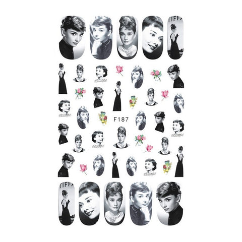 Audrey Hepburn Nail Stickers (RESTOCK COMING SOON)