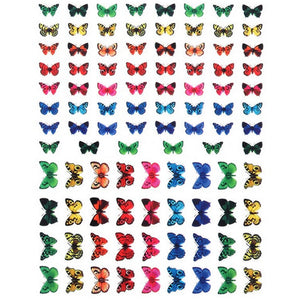 Butterflies Bold Colours Nail Stickers