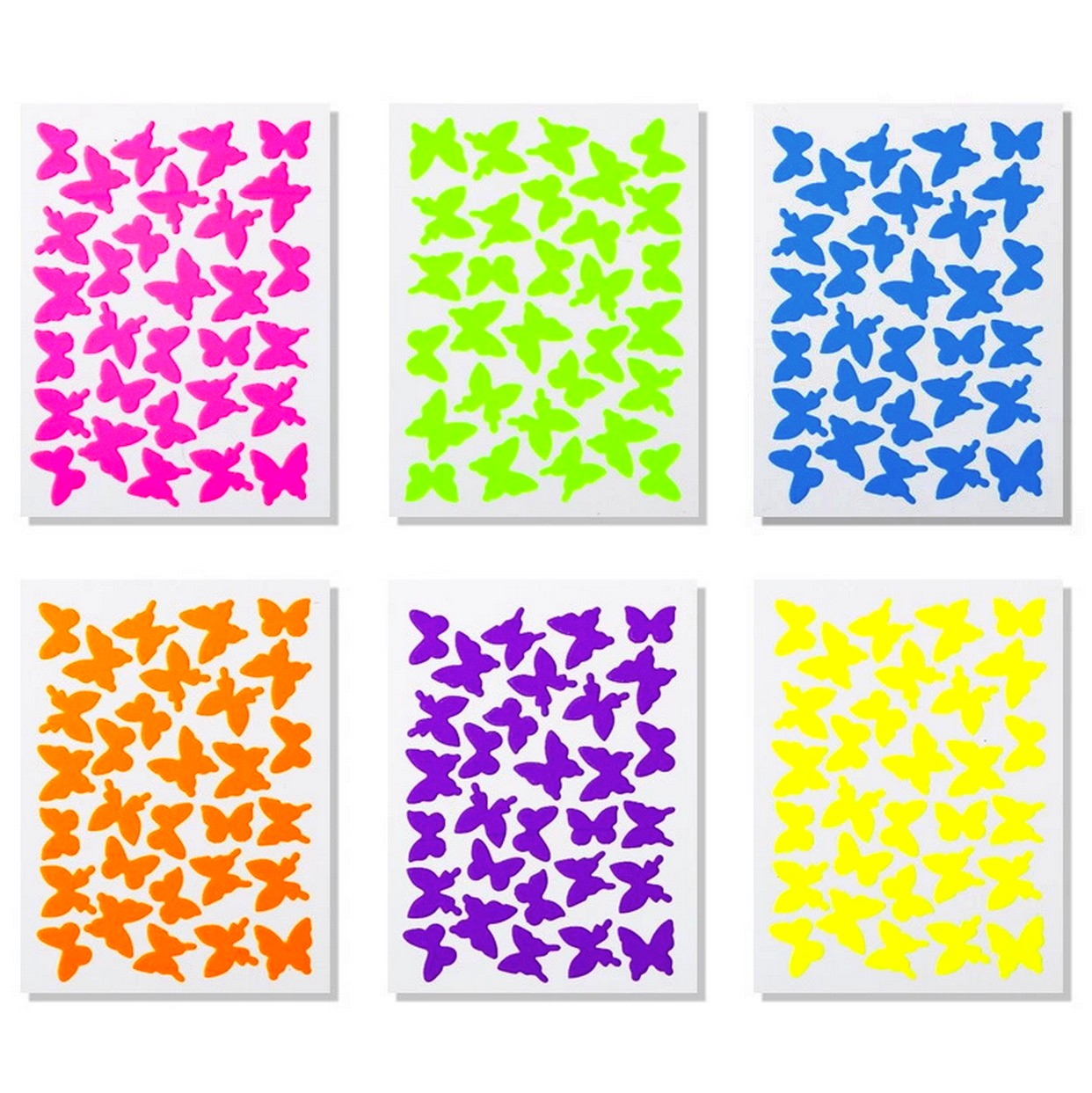 Butterflies 6 Sheets Nail Stickers