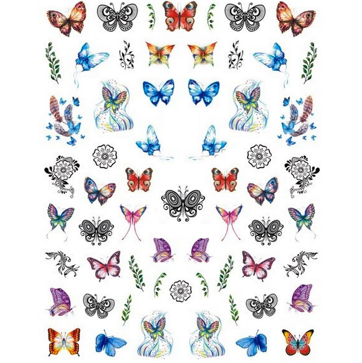 Butterflies Fantasy Mix Nail Stickers
