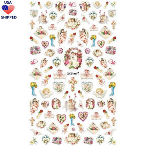 (USA) Angel Cherubs #2 Nail Stickers