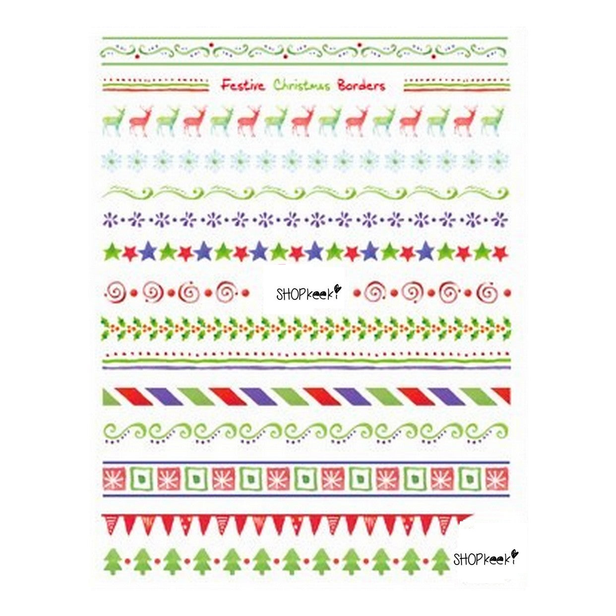 Christmas Borders Nail Stickers