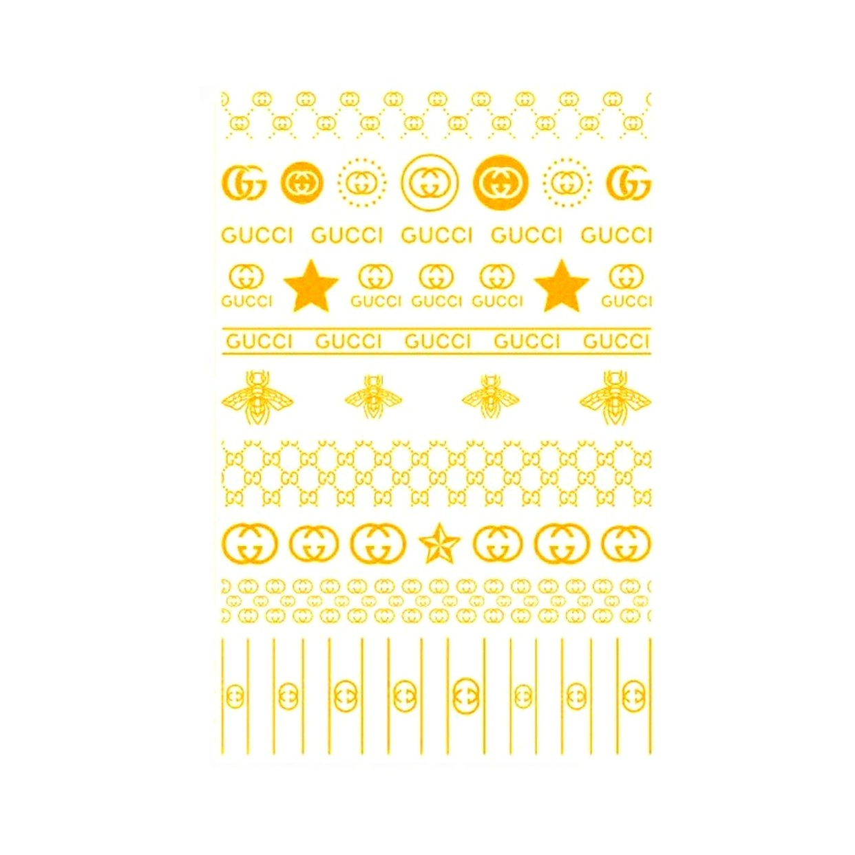 G B Gold Small Nail Stickers