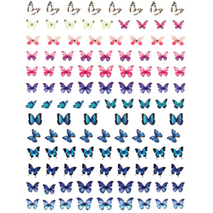 Butterflies Gradient Nail Stickers