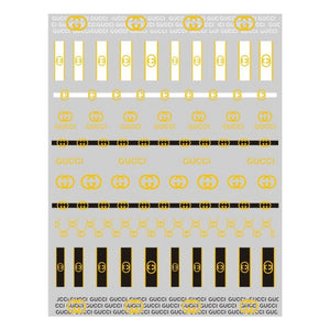G Gold/White/Black Nail Stickers