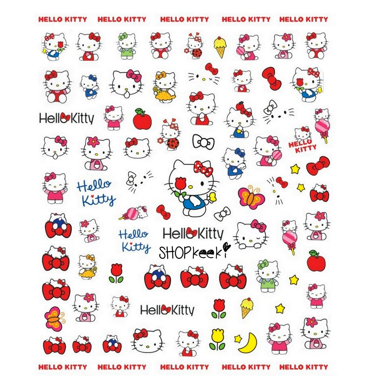 Kawaii HK Classic Stickers