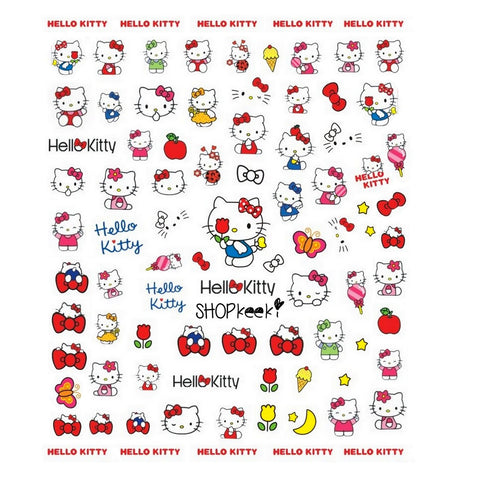 Kawaii Kitty Nail Stickers