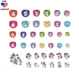 (USA) For Kids Unicorns #2 Nail Stickers