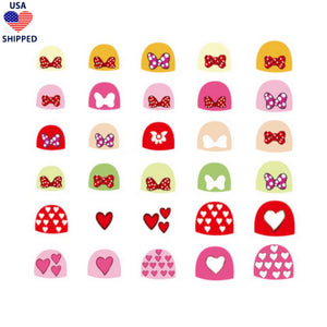 (USA) For Kids Bows Nail Stickers