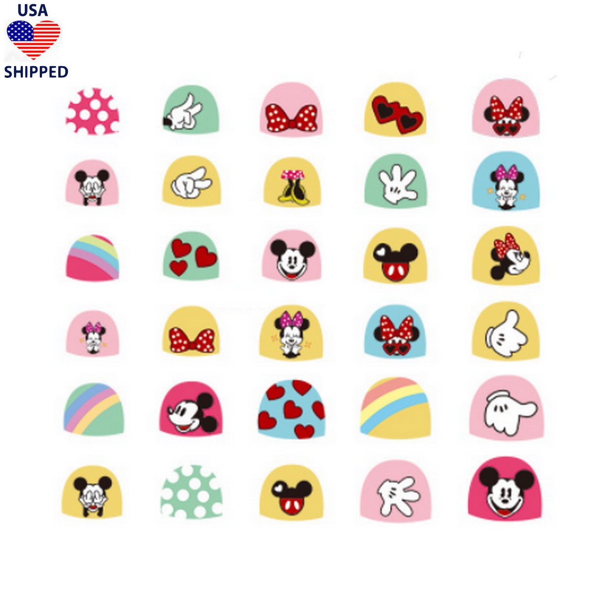 (USA) For Kids MM Nail Stickers