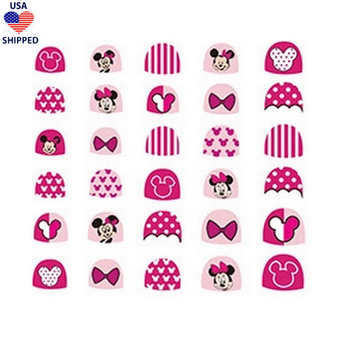 (USA) For Kids MM Pink Nail Stickers