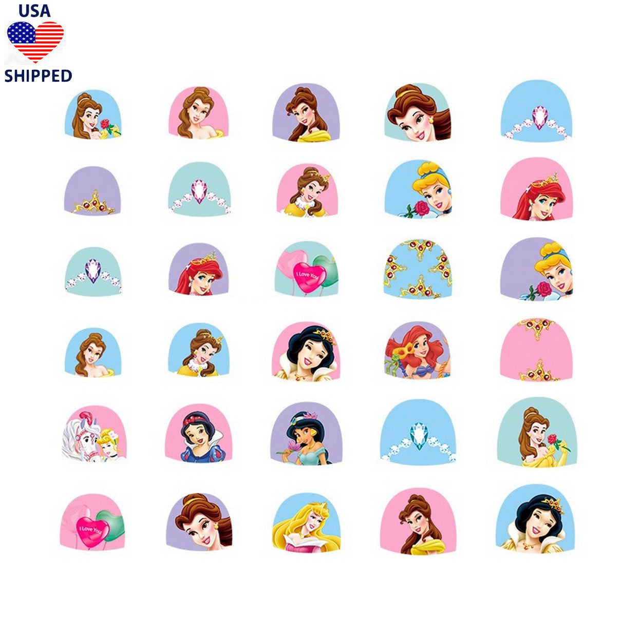 (USA) Kids Princesses #2 Nail Stickers