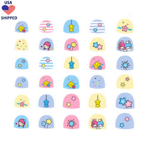 (USA) For Kids Angels Nail Stickers