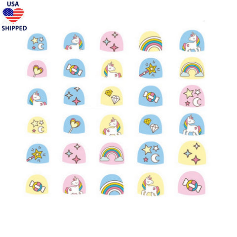 (USA) For Kids Unicorns #5 Nail Stickers