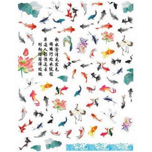 Animals Japanese Koi Pond Nail Stickers