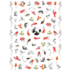 Animals Koi Pond Nail Stickers