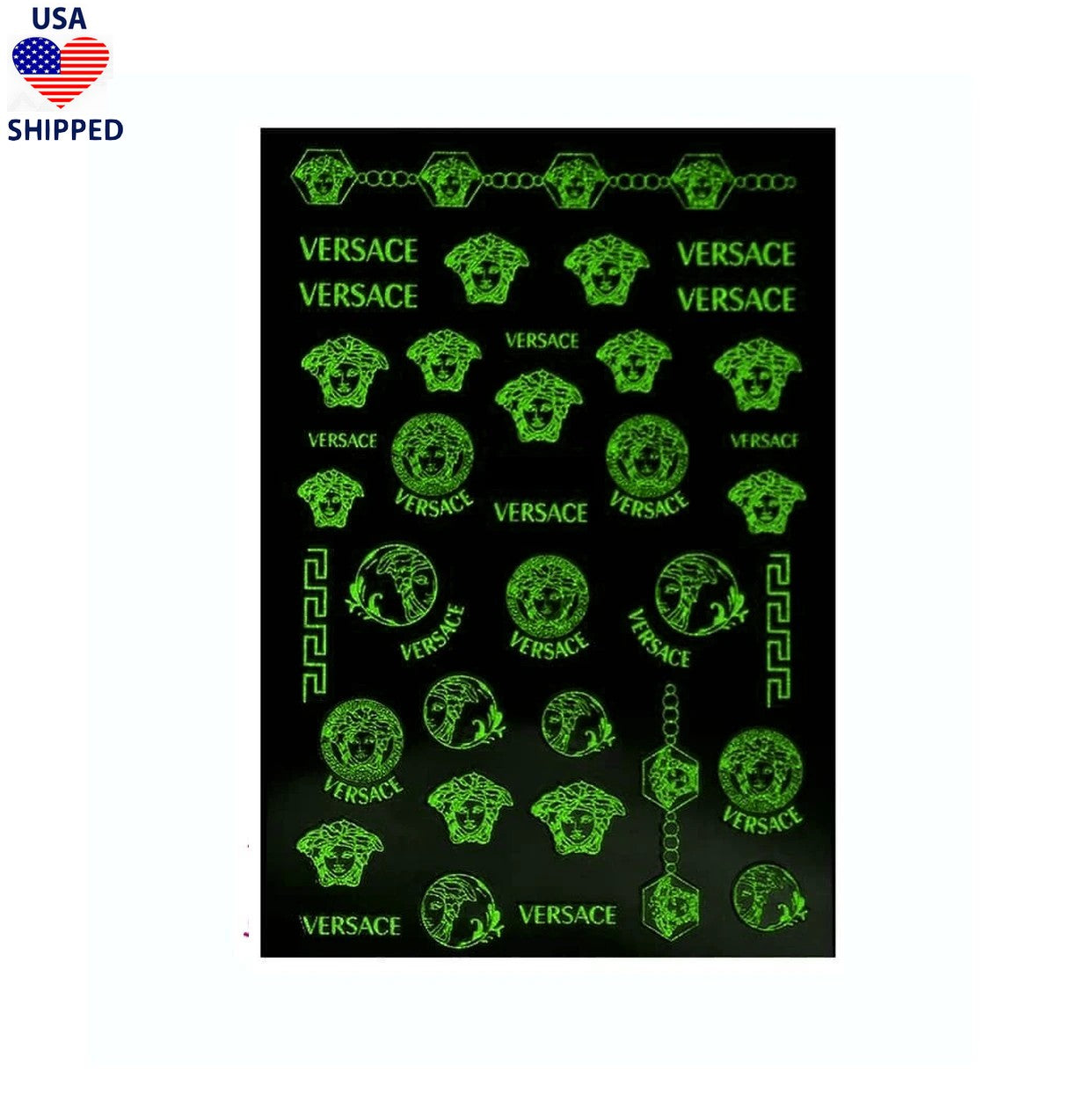 (USA) Medusa / Glow in The Dark Nail Stickers