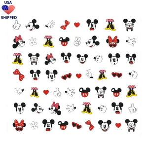 (USA) Cartoons Mick Min Mix Nail Stickers