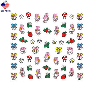 (USA) Kawaii Melody Meadow Nail Stickers