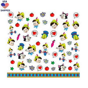 (USA) Cartoons Pin Nail Stickers