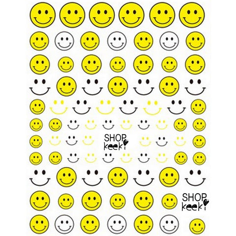 Smiley Yellow Nail Stickers