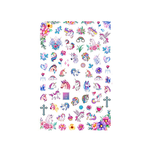 Mythical Unicorn Pastel Nail Stickers