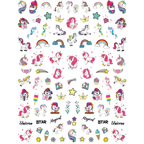 Mythical Unicorn Rainbows Nail Stickers